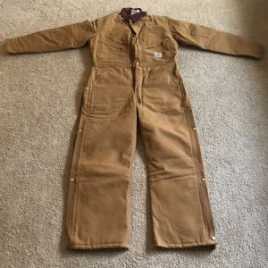 BNWOT insulated quilt lined coveralls